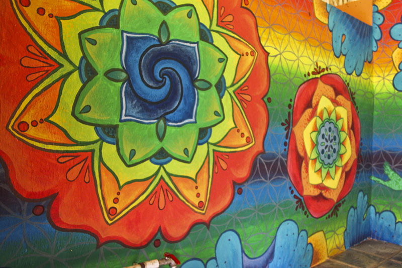Blog archive mandala mural in el retiro lodge for Mural mandala